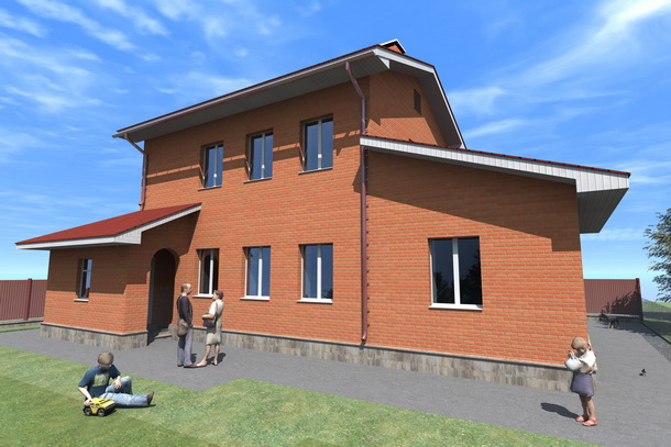 Задний (южный) фасад моего будущего дома