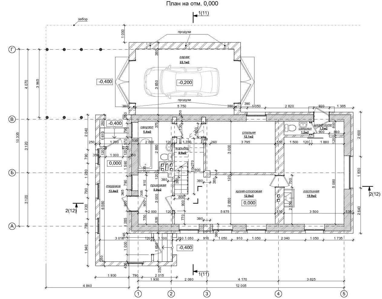 План первого этажа по клику откроется